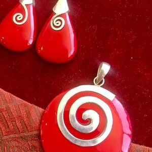 Matching Pendant and Earrings